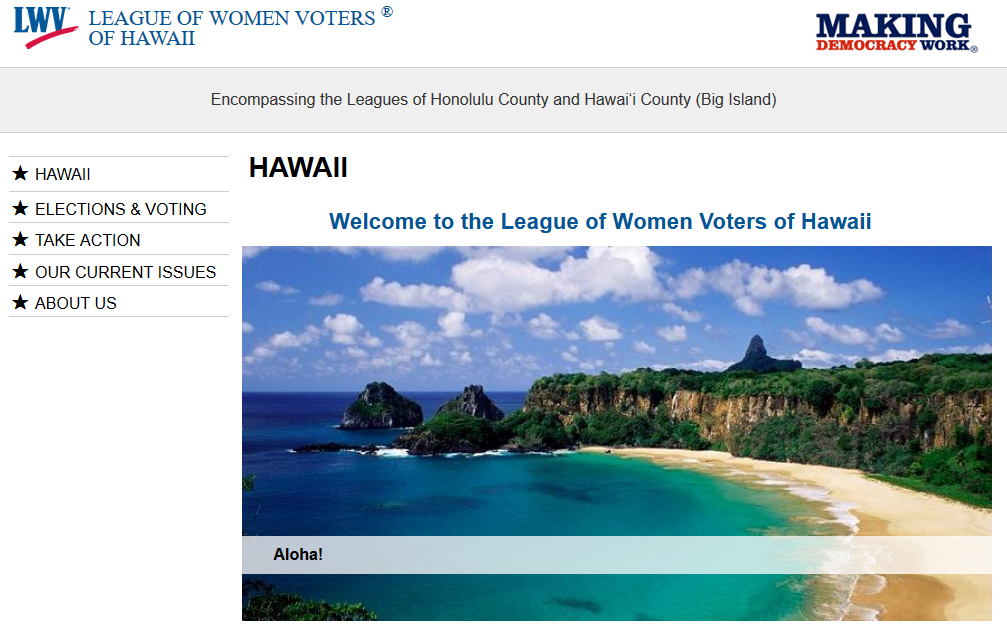 League of Women Voters of Hawaii Home Page